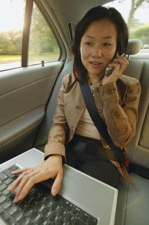carson ganci: Woman talks on cell phone