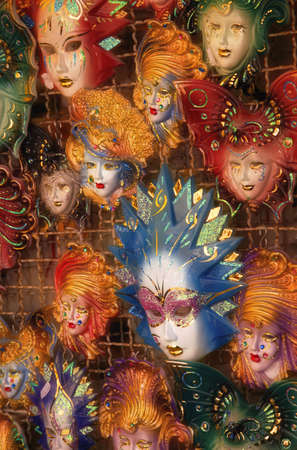 carson ganci: Masks on display in Italy