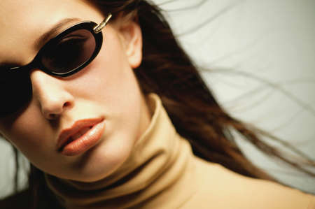 turtleneck: Woman with sunglasses