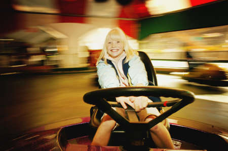 Girl on a ride photo
