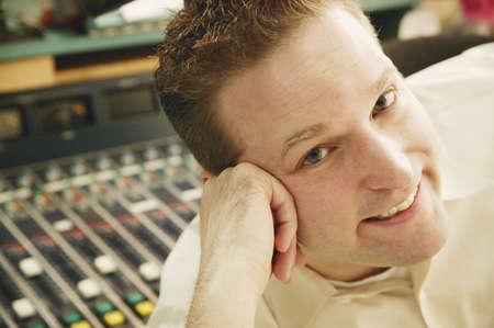 glubish: Radio host Stock Photo