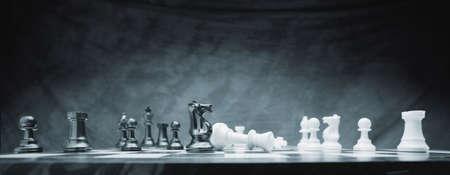Schachmatt: Ein Schachspiel Lizenzfreie Bilder