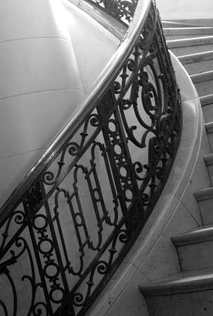 ritzy: Staircase in a ritzy hotel Stock Photo