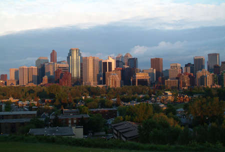 A cityscape photo