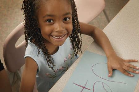 soleil souriant: Fille de couleurs une image Banque d'images