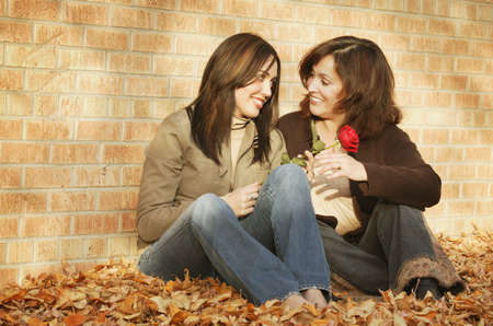 glubish: Mother and daughter share a smile Stock Photo