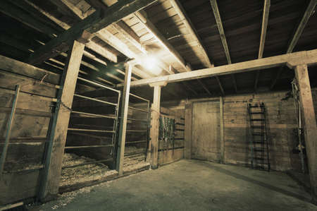wooden beams: Inside of a barn