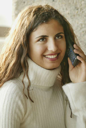 fixate: Woman with cell phone Stock Photo