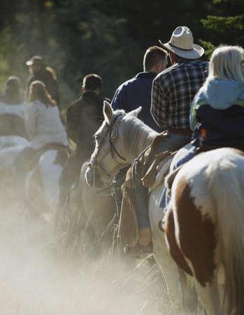 horseback riding: Trail riding