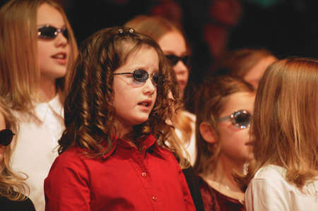 blind people: A choir of children