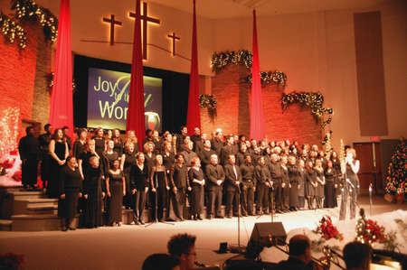 christmas church: A church choir Stock Photo