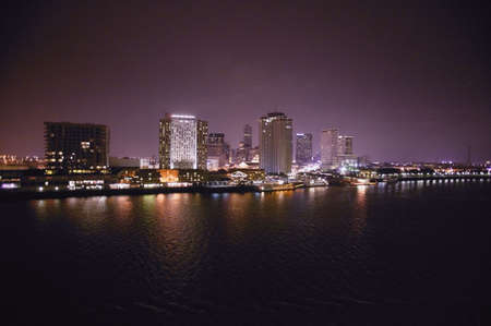 A city view at night Stock Photo