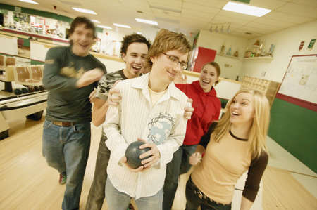 goes: Group goes bowling