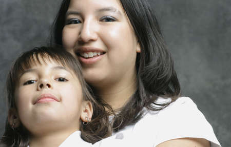 aboriginal woman: Mother and daughter