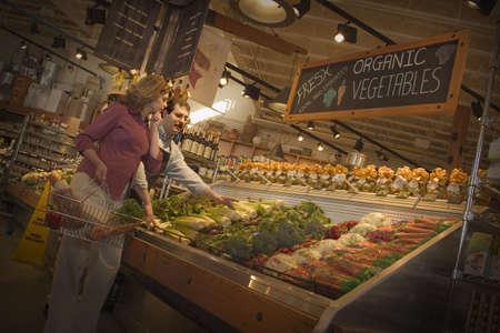tiendas de comida: En una tienda de comestibles