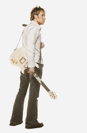 Man with a guitar Stock Photo