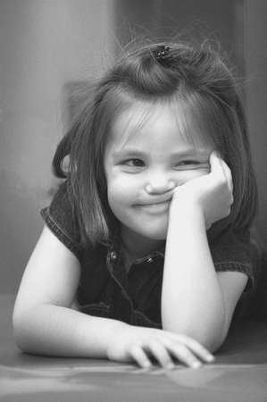 carson ganci: Little girl with a silly expression