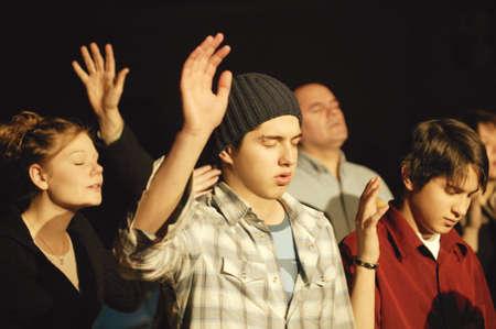 alabanza: Un grupo de fieles