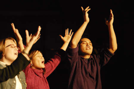 praise: A group of worshippers