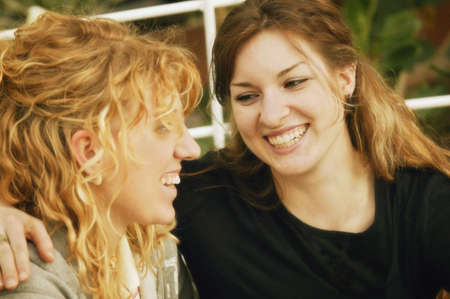 imaginor: Two women sharing a laugh Stock Photo
