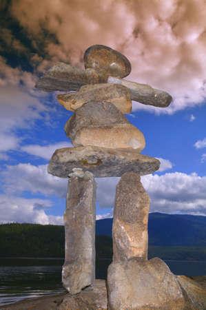 A rock sculpture