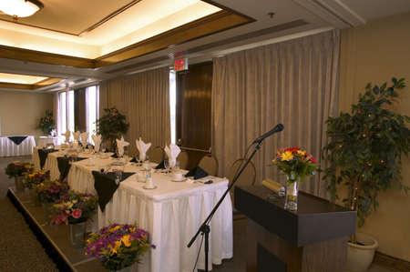Head Table at Wedding Banquet Reception photo