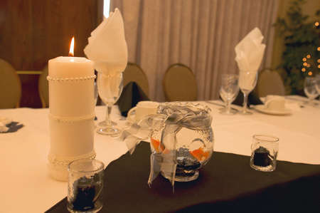 Formal place settings at Wedding Banquet photo