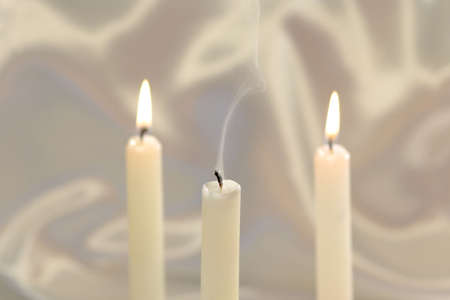 broken unity: Unity candle blown out