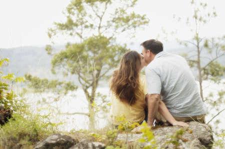 glubish: A couple kiss Stock Photo