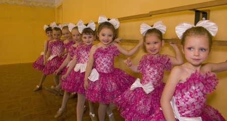 A group of ballerinas