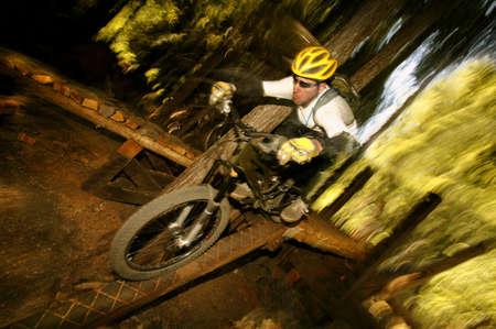 A mountain biker Stock Photo - 6213942