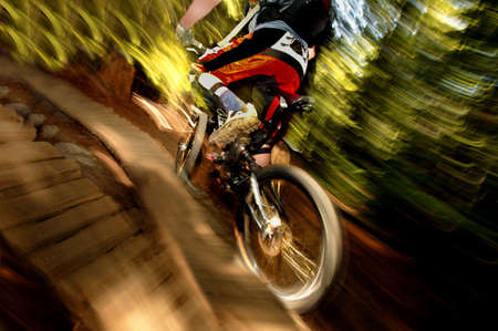 A mountain biker Stock Photo - 6213943