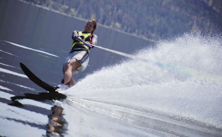 A slalom ski photo