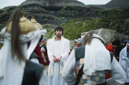 humility: Guardie di vengono ad arresto Ges� nel giardino di Getsemani