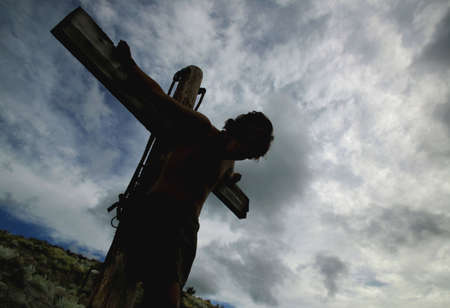 righteous: Jesus hangs on the cross