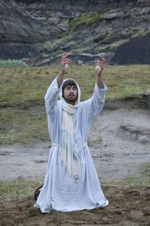 Jesús orando en el jardín de Getsemaní Foto de archivo - 6214636