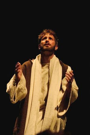 humildad: hombre de oraci�n  Foto de archivo