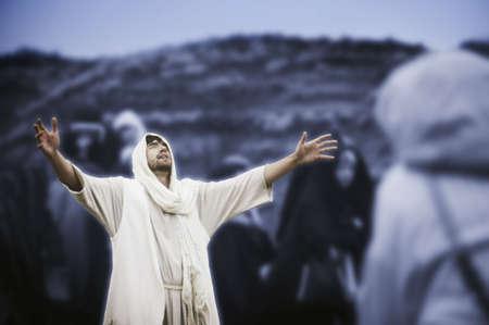 Jezus bidden Stockfoto