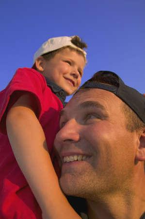 carson ganci: Father and son bonding Stock Photo