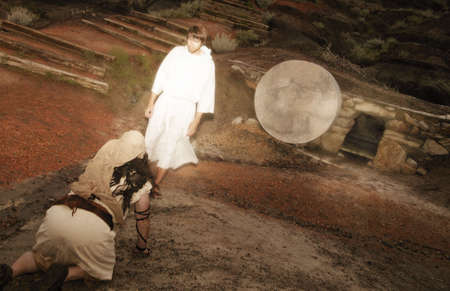 tumbas: Jes�s se aparece a Mar�a Foto de archivo