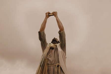 intercession: Jesus blesses bread Stock Photo