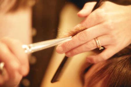 Getting a haircut photo