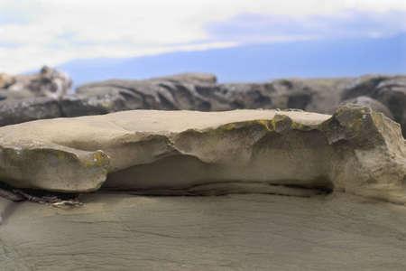 smooth: worn smooth rock Stock Photo