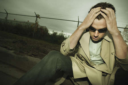 Man giving up Stock Photo - 6214134