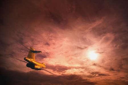 darren greenwood: An airplane in the sky