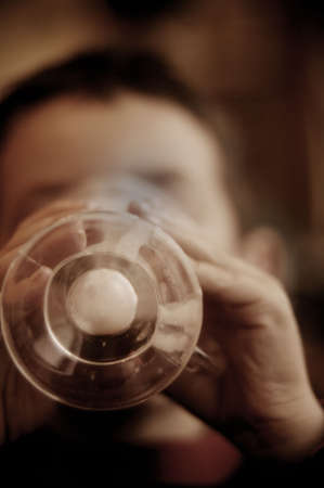 warm drink: Finishing a warm drink