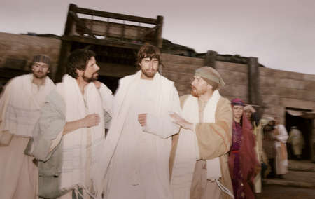 disciple: Jesus and his disciples Stock Photo