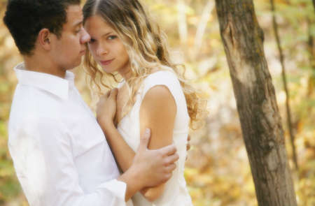 closeness: Couple holding each other