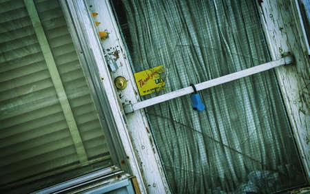 imaginor: Old door with cracked glass