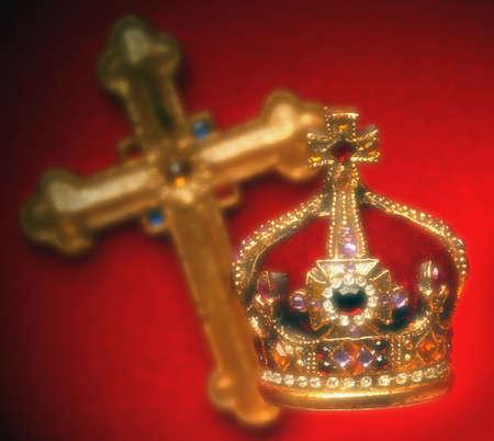 jeweled: Jeweled crown and cross